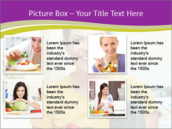 Happy woman in kitchen PowerPoint Template - Slide 14