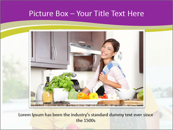 Happy woman in kitchen PowerPoint Template - Slide 15