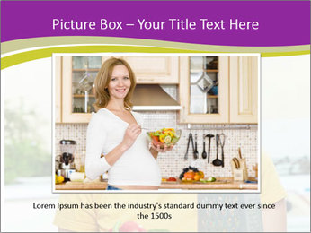 Happy woman in kitchen PowerPoint Template - Slide 16