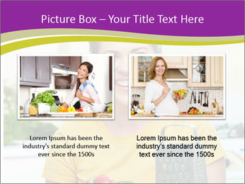 Happy woman in kitchen PowerPoint Template - Slide 18