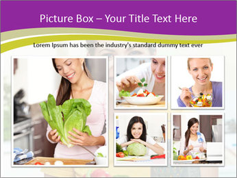 Happy woman in kitchen PowerPoint Template - Slide 19