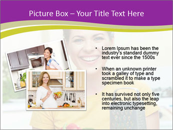 Happy woman in kitchen PowerPoint Template - Slide 20