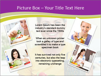 Happy woman in kitchen PowerPoint Template - Slide 24
