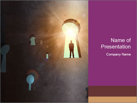 Silhouette of businessman PowerPoint Templates