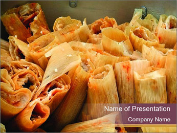 Big batch of tamales PowerPoint Template