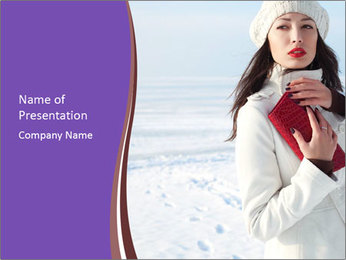 Fashionable model PowerPoint Template - Slide 1