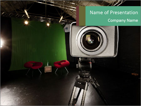 Television Camera PowerPoint Template