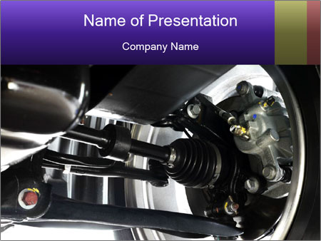 Car Axle PowerPoint Template