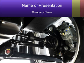 Car Axle PowerPoint Template - Slide 1