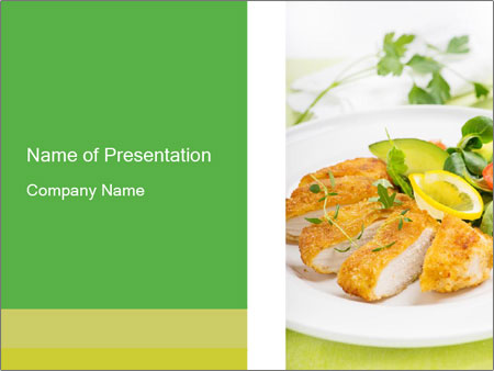 Breaded chicken PowerPoint Templates