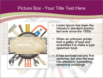 Tools underneath wooden planks PowerPoint Templates - Slide 13