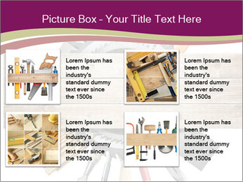 Tools underneath wooden planks PowerPoint Templates - Slide 14