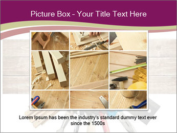 Tools underneath wooden planks PowerPoint Templates - Slide 15