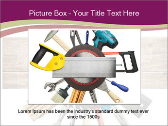 Tools underneath wooden planks PowerPoint Templates - Slide 16