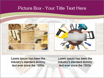 Tools underneath wooden planks PowerPoint Templates - Slide 18