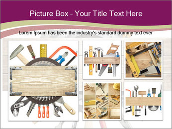 Tools underneath wooden planks PowerPoint Templates - Slide 19