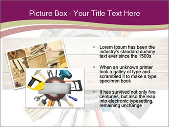 Tools underneath wooden planks PowerPoint Templates - Slide 20