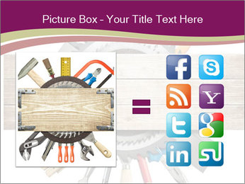 Tools underneath wooden planks PowerPoint Templates - Slide 21