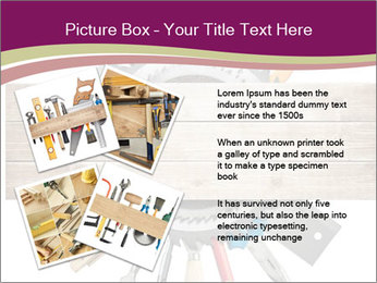 Tools underneath wooden planks PowerPoint Templates - Slide 23