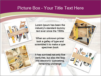 Tools underneath wooden planks PowerPoint Templates - Slide 24