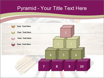 Tools underneath wooden planks PowerPoint Templates - Slide 31
