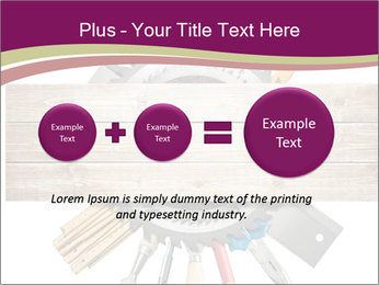 Tools underneath wooden planks PowerPoint Templates - Slide 75