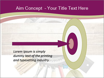 Tools underneath wooden planks PowerPoint Templates - Slide 83