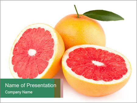 Ripe grapefruits PowerPoint Templates