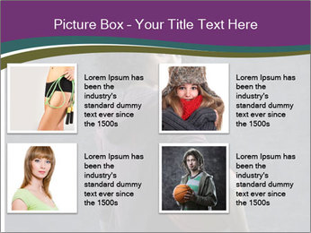 Beautiful woman holding a basketball PowerPoint Template - Slide 14