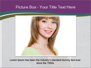 Beautiful woman holding a basketball PowerPoint Template - Slide 15