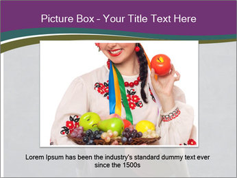 Beautiful woman holding a basketball PowerPoint Template - Slide 16