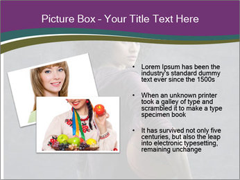 Beautiful woman holding a basketball PowerPoint Template - Slide 20