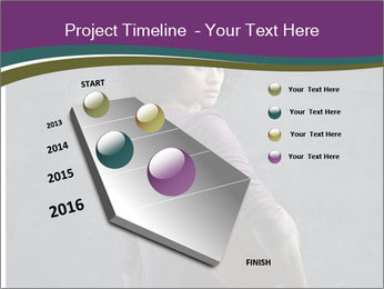 Beautiful woman holding a basketball PowerPoint Template - Slide 26