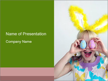 Easter eggs PowerPoint Template - Slide 1