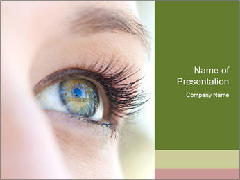 Healthy woman eye PowerPoint Template - Slide 1