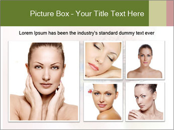 Healthy woman eye PowerPoint Template - Slide 19