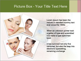 Healthy woman eye PowerPoint Template - Slide 23