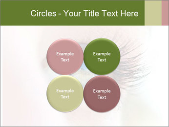 Healthy woman eye PowerPoint Template - Slide 38