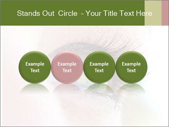 Healthy woman eye PowerPoint Template - Slide 76