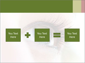 Healthy woman eye PowerPoint Template - Slide 95