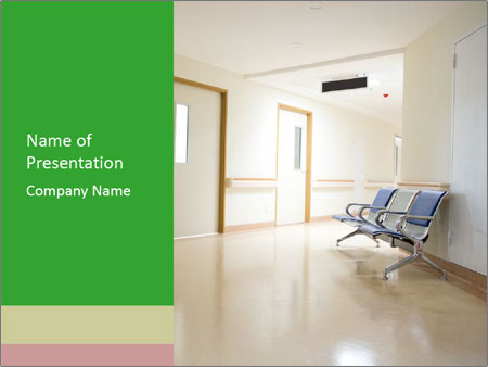 Chairs in the hospital PowerPoint Templates