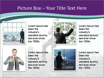 Businessman sitting on rope PowerPoint Templates - Slide 14