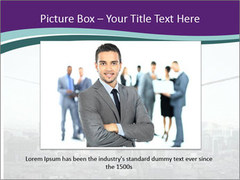 Businessman sitting on rope PowerPoint Templates - Slide 15