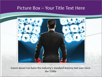 Businessman sitting on rope PowerPoint Templates - Slide 16