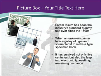 Businessman sitting on rope PowerPoint Templates - Slide 17