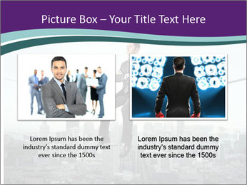 Businessman sitting on rope PowerPoint Templates - Slide 18