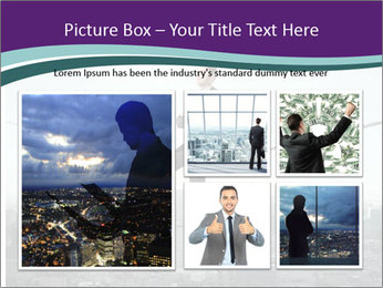 Businessman sitting on rope PowerPoint Templates - Slide 19