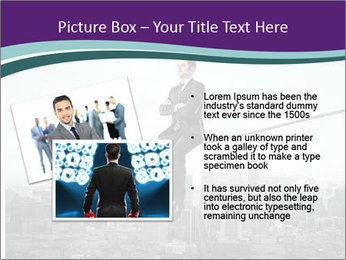 Businessman sitting on rope PowerPoint Templates - Slide 20