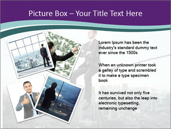 Businessman sitting on rope PowerPoint Templates - Slide 23