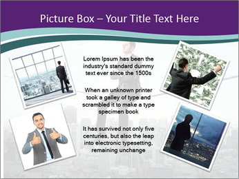 Businessman sitting on rope PowerPoint Templates - Slide 24